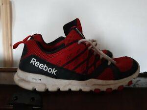 Reebok Sublite Train Mens Trainers UK Size 8.5 Dark grey/Red