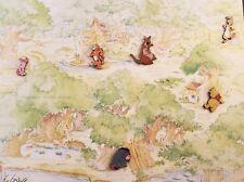 Disney 100 Acre Wood Map with Pooh Piglet Eeyore Rabbit Tigger Kanga & Roo 6 pin