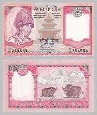 Nepal 5 Rupees 2005 p53b unz.