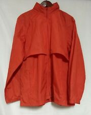 Vintage Woolrich Teton Womens Poppy Orange Vented with Hidden Hood Windbreaker L