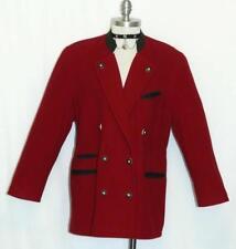 """BOILED WOOL Sweater Winter Jacket LINED Women Austria WARM Car Coat B45"""" 14  L"""