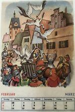 Märchen – Favorit Märchen-Kalender 1966. Sehr gut erhaltener Abreißkalender 1965
