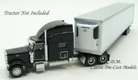 53' White Tandem Axle Thermo King Refrigerated Trailer 1/87 HO Promotex 5491