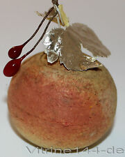 alter Christbaumschmuck APFEL aus gepresster Watte um 1900 Frucht Früchte