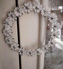Decorative Wreath with Flowers 14cm Deco Shabby Vintage Landhaus