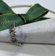 Pandora Signature of Love Cubic Zirconia Silver Ring Size 52. 190928 Genuine Ale