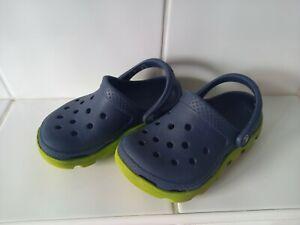 Duet Sport Croc's Clog's - Navy Blue/Green - Size C8/9