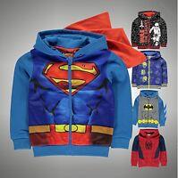 Kids Boys Character Full Zip Hooded Jacket Fleece Hoody Top Size Age 2-13