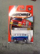 92215 MATCHBOX 2001  #12/75 HIGHWAY HEROES VW TRANSPORTER BLUE/WHITE
