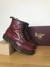 Oxblood vintage doc dr martens 1460 8-eye boots, made in England, size uk 8 mie