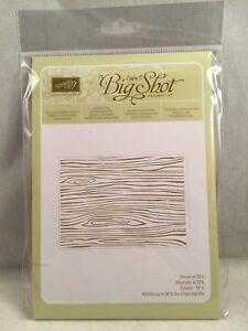 WOODGRAIN Embossing Folder Stampin Up New Background seaweed Lines Waves