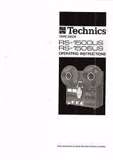 Technics  Bedienungsanleitung user manual owners manual  für RS- 1500 1506 US