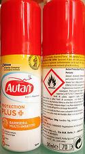 Autan protection plus spray contro zanzare comuni tigre tropicali tafani zecche