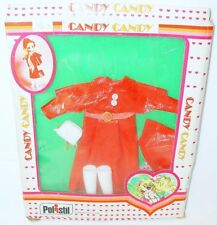 """Polistil 10"""" CANDY CANDY Doll Outfit RED DRESS FASHION Toei Animation MIB`80!"""