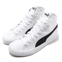 Puma Bari Mid White Black Gum Canvas Men Women Unisex Casual Shoes 373891-01