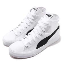 Puma Bari Mid White Black Gum Canvas Men Women Unisex Casual Shoes 373891-01