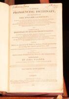1827 Critical Pronouncing Dictionary The English Language John Walker Reference