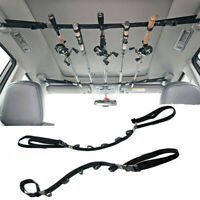 2pcs Fishing Vehicle Rod Carrier Rod Holder Belt Strap With Tie Fishing rod Rack