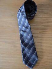 """New: Dolce & Gabbana """"Martini"""" Grey Striped Silk Narrow Tie"""
