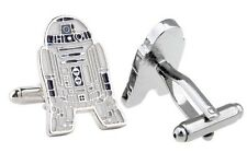SALE! Star Wars R2D2 Droid Mens Novelty Silver Plated Zinc Alloy Cufflinks