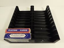 Playing/Poker Cards Tray (Holds 20 or 10 Decks) storage/holder/stand/rack/box