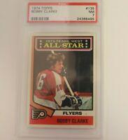 1974 Topps Philadelphia Flyers Bobby Clarke #135 PSA 7