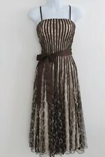 Roman Originals Stunning Brown Animal Print Special Occasion Dress Size 12