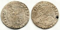Spain-Reyes Catolicos. 1 Real. Granada. Plata 3,3 g. ESCASA