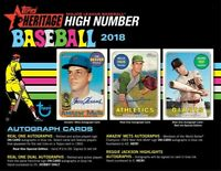 2018 TOPPS HERITAGE HIGH NUMBERS LIVE RANDOM PLAYER 12 BOX HOBBY CASE BREAK