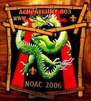 ACHPATEUNY OA LODGE 498 FAR EAST 803 2015 FLAP NOAC 2006 2-PATCH DELEGATE DRAGON
