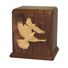 Wood Cremation Urn (Wooden Urns) - Walnut Doves