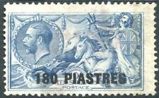 BRITISH LEVANT-1921 180 pi on 10/- Dull Grey-Blue Sg 50 GOOD USED V22533