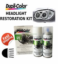 DUPLICOLOR HEADLIGHT RESTORATION KIT NEW CRYSTAL CAR FADED AUTO RESTORE CLEANER