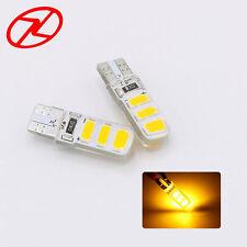 2x Amber COB LED Silicone T10 W5W 194 168 License Plate Light Car Bulb Lamp 158