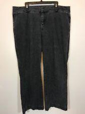 Coldwater Creek 20W Faded Black Gray Stretch Jeans Straight Leg 42x30