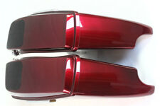 """Velocity red sunglo 4.5"""" ABS 6*9 speaker lid saddlebags fit Harley touring 93-13"""