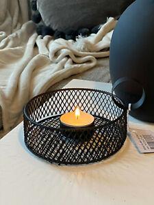 HYGGE Kammerleuchter Kerzenhalter Schwarz Teelichthalter