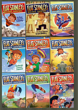Flat Stanley's Worldwide Adventures Series Collections Set 1-9 by Jeff Brown