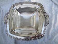 Vintage Greek Design Homan plate on Nickle Silver W.M. Mounts Handled Bowl Dish