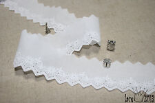 """14Yds Broderie Anglaise Eyelet lace trim 1.6""""(4cm) white YH568 laceking2013"""