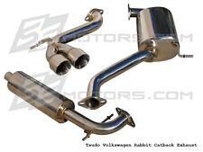 Tsudo 06 07 08 09 VW Rabbit 2.5L 2dr/4dr hatchback performance Cat back Exhaust