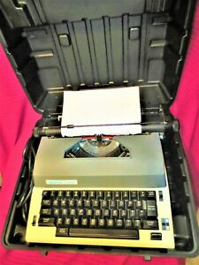 Swintec 3300C Portable Electronic Typewriter, SERVICED,MANUAL W Carry Case,