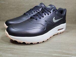 NIKE Women's Air Max 1 G Golf Shoes Gridiron Metallic Gray AQ0865-003 Size 8 (b9