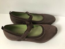 Tsubo Sz 8 mary jane Leather Brown Casual Comfort Walking Women's Shoes Great