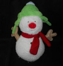 "9"" CARTER'S BABY MERRY MERRY CHRISTMAS SNOWMAN STUFFED ANIMAL PLUSH TOY # 49914"