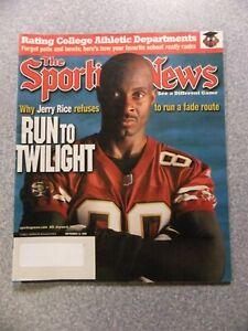 L#904 1999 Sporting News magazine- Jerry Rice, San Francisco 49ers, NRMT