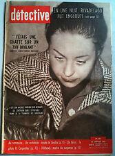 DETECTIVE 23/1/1959 Hitchcock maitre du suspense/Pilote R. Carpentier/Rivadelago