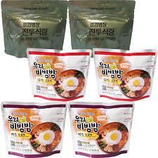 120g X 6 Korean Military MRE Camping Food Bibimbap Combat Emergency Rations