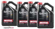 Motul Specific Volkswagen 50400 50700 5W30, motor Audi Seat Skoda TDI, Pack 20 L