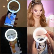 Selfie Light 36 LED Ring Flash Light Clip Camera For iPhone Samsung Htc etc New
